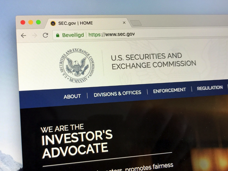 US Securities and Exchange Comisson home page.